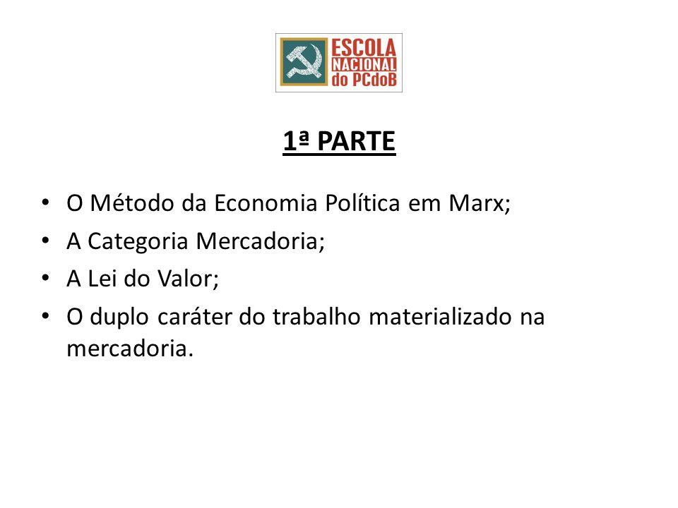 1ª PARTE O Método da Economia Política em Marx;