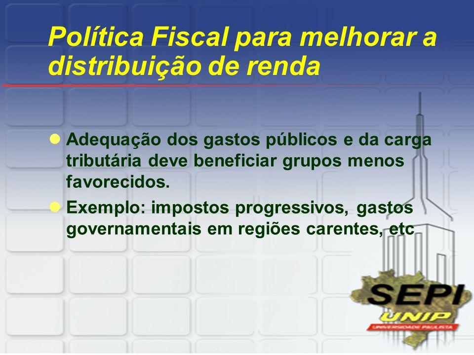 Política Fiscal para melhorar a distribuição de renda