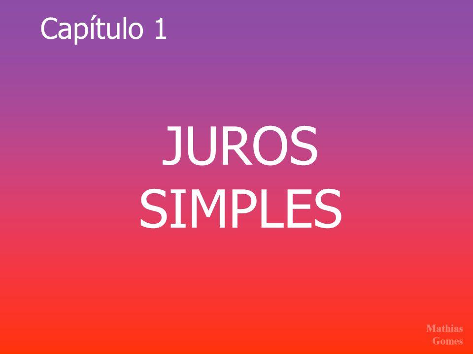 Capítulo 1 JUROS SIMPLES