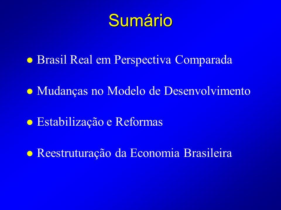 Sumário Brasil Real em Perspectiva Comparada