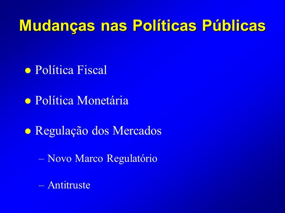 Mudanças nas Políticas Públicas