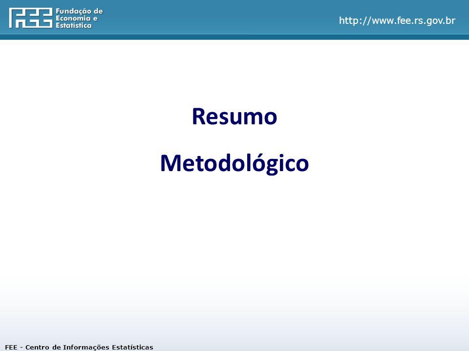 Resumo Metodológico FEE - Centro de Informações Estatísticas