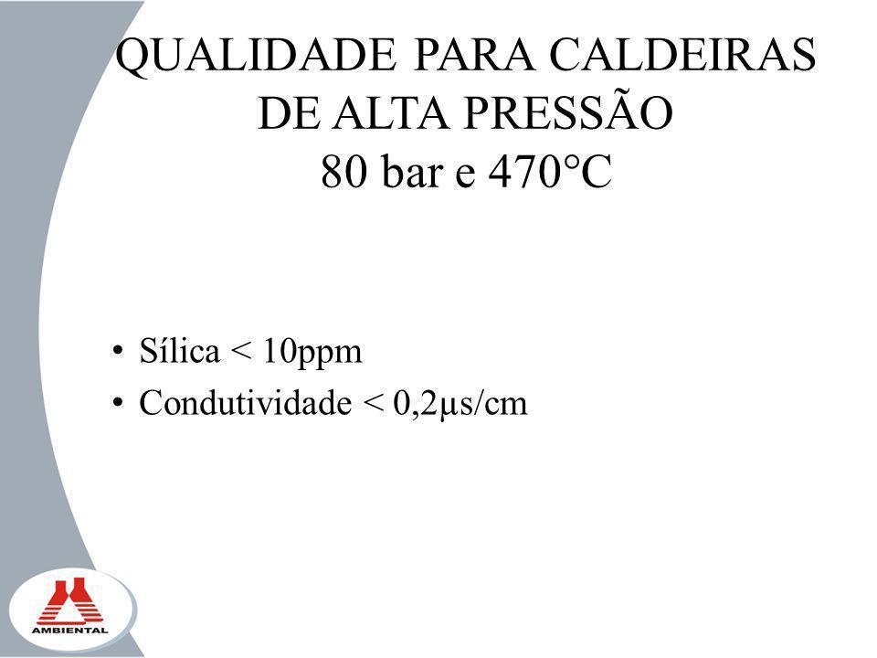 QUALIDADE PARA CALDEIRAS DE ALTA PRESSÃO