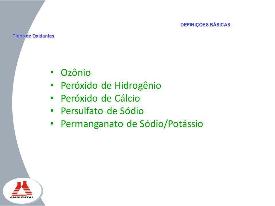 Peróxido de Hidrogênio Peróxido de Cálcio Persulfato de Sódio