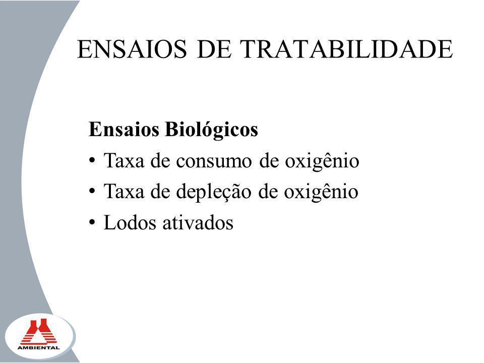 ENSAIOS DE TRATABILIDADE