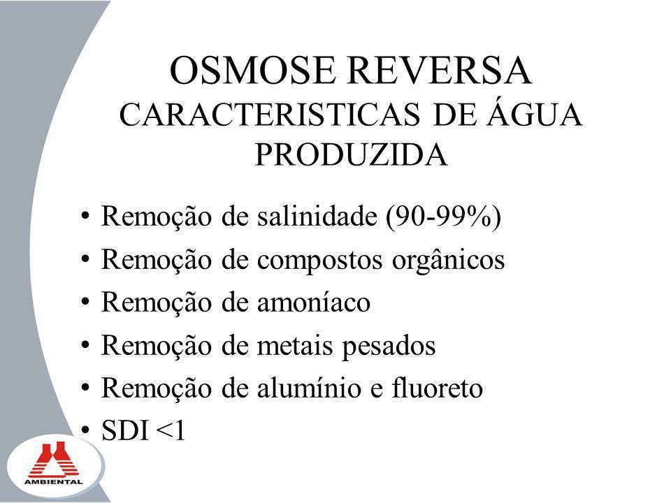 CARACTERISTICAS DE ÁGUA PRODUZIDA