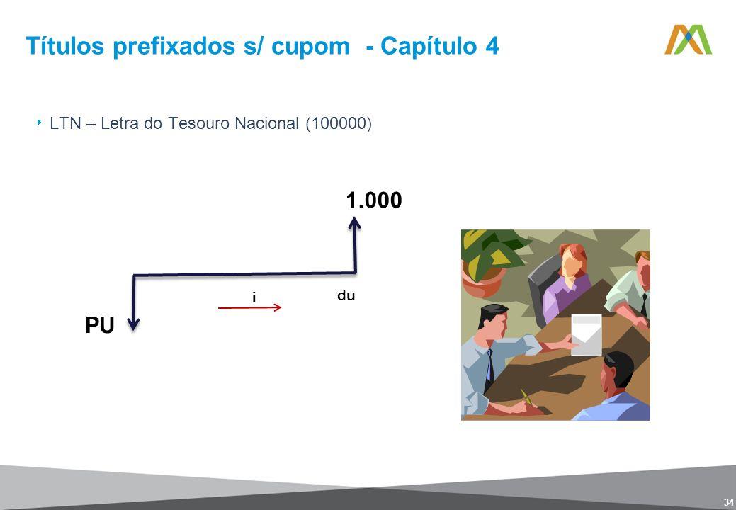Títulos prefixados s/ cupom - Capítulo 4