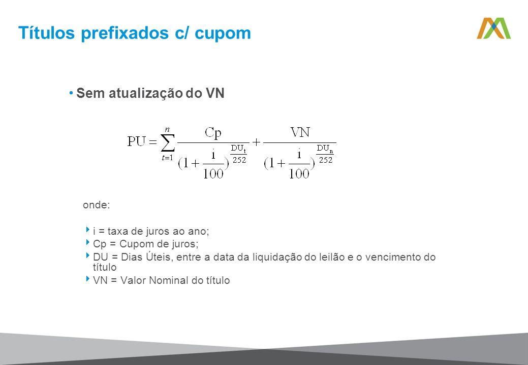 Títulos prefixados c/ cupom