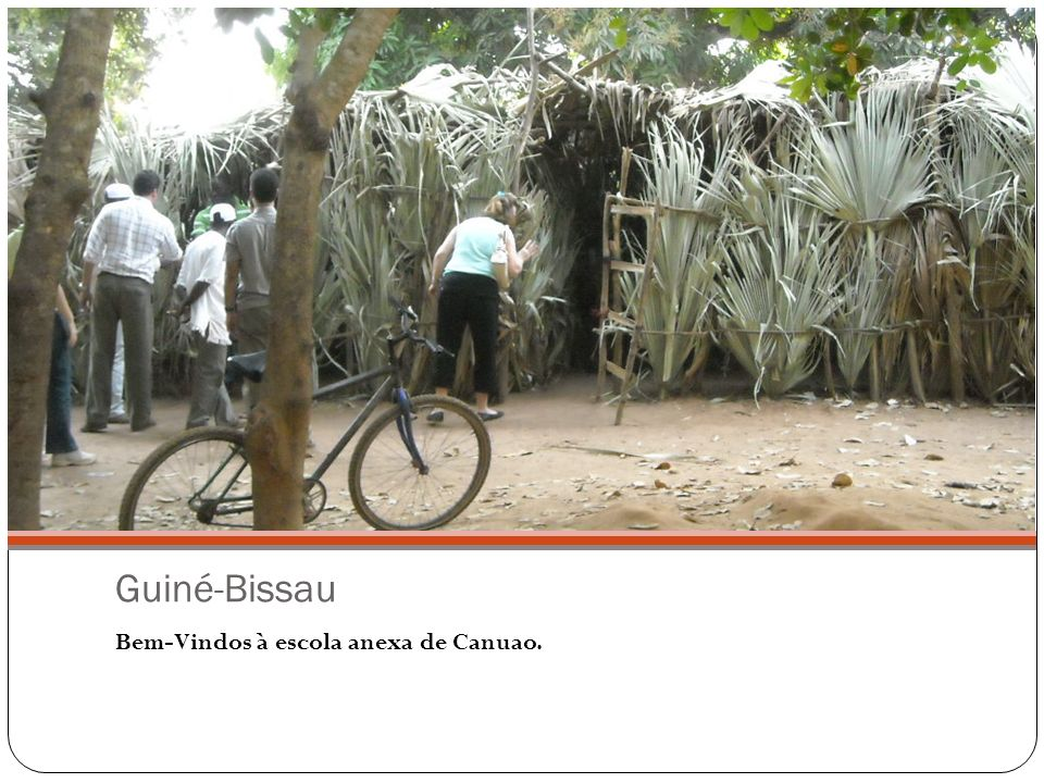 Guiné-Bissau Bem-Vindos à escola anexa de Canuao.