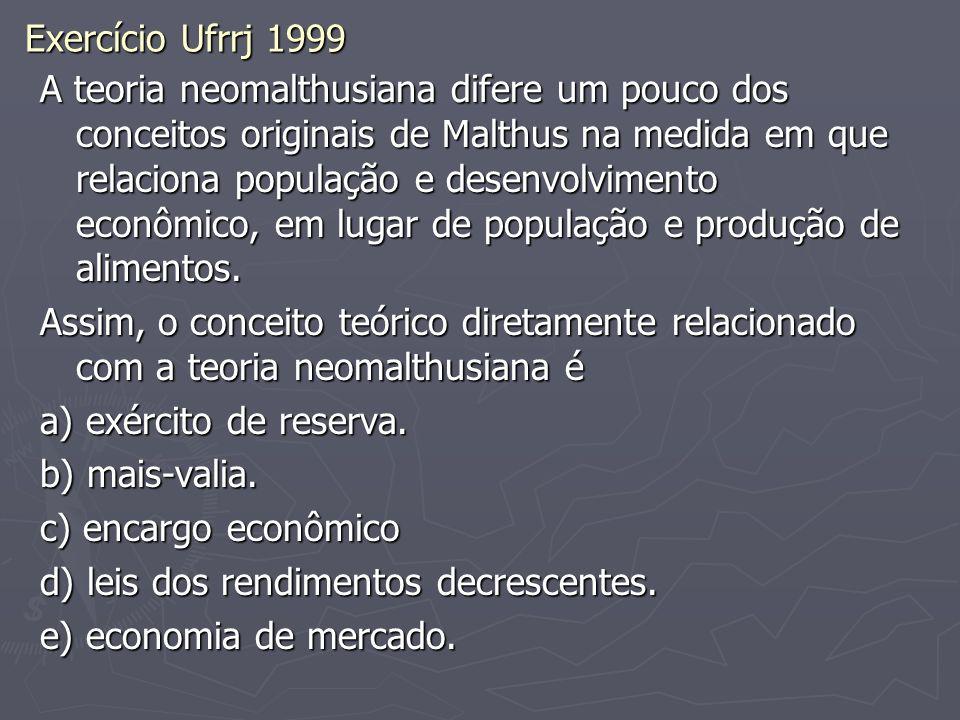 Exercício Ufrrj 1999