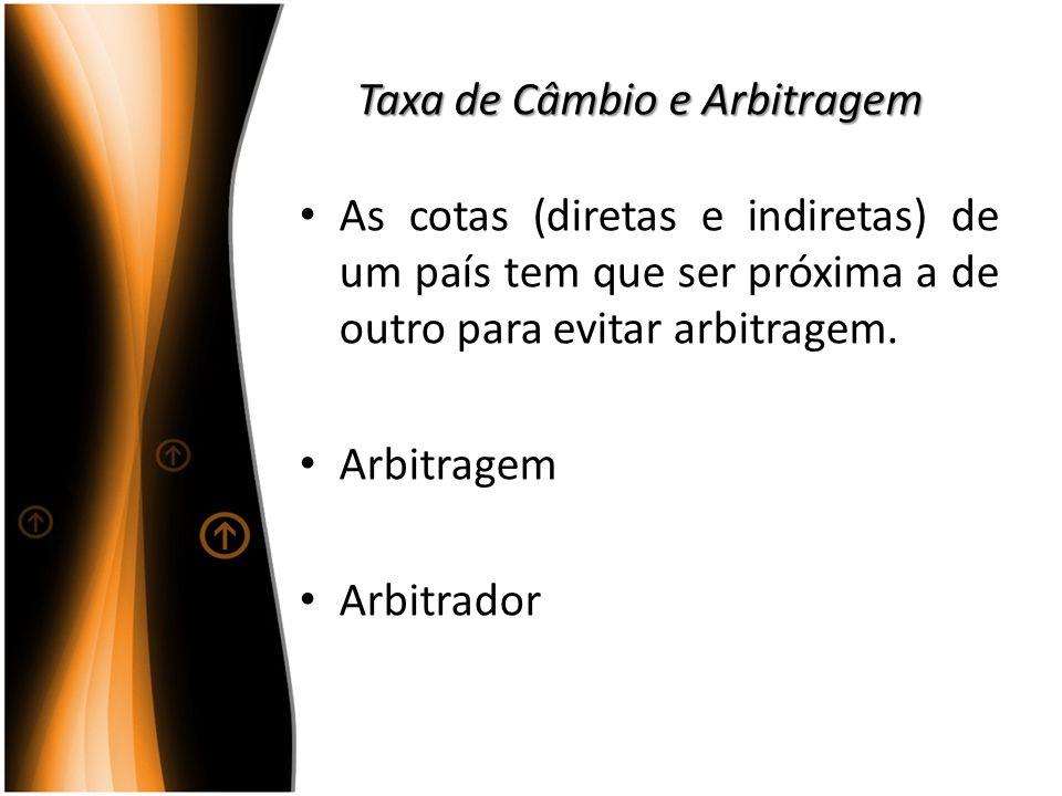 Taxa de Câmbio e Arbitragem