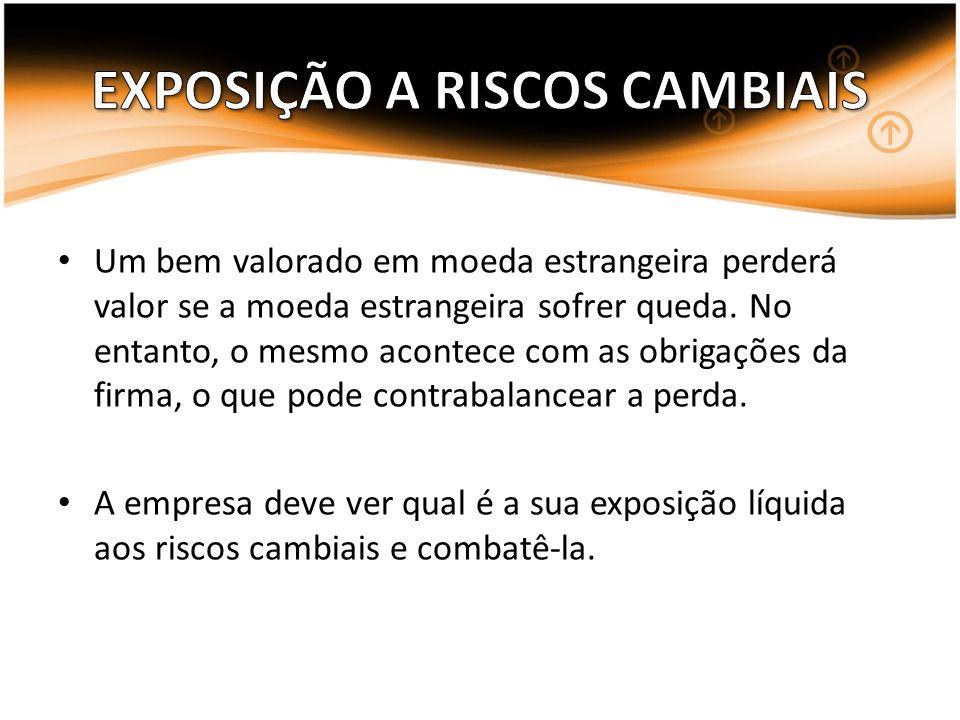 EXPOSIÇÃO A RISCOS CAMBIAIS