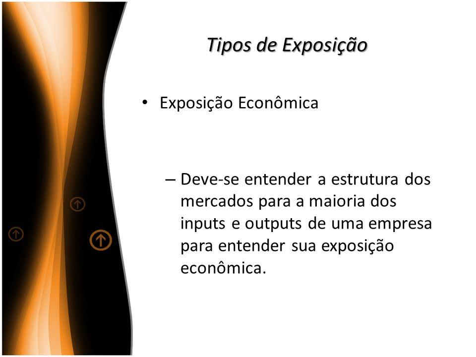 Tipos de Exposição Exposição Econômica