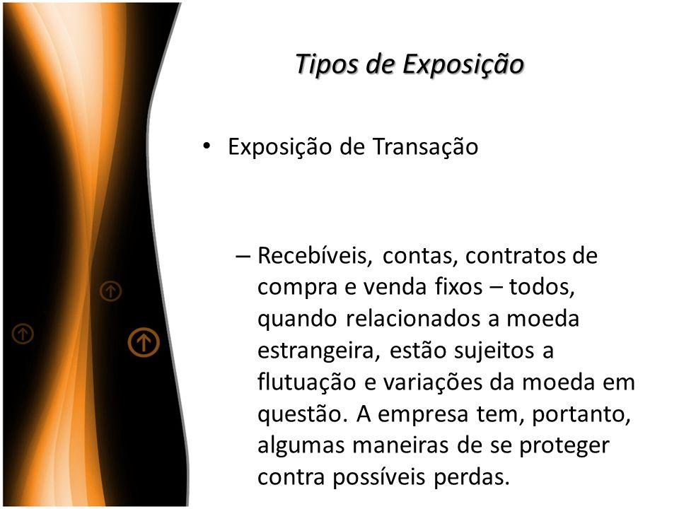 Tipos de Exposição Exposição de Transação