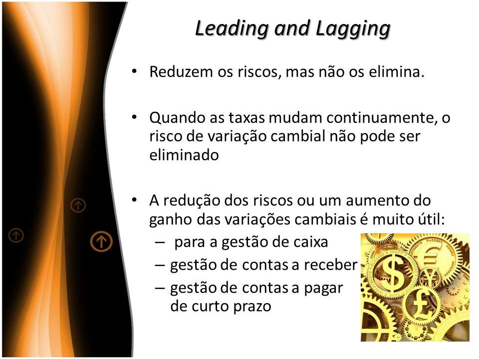 Leading and Lagging Reduzem os riscos, mas não os elimina.