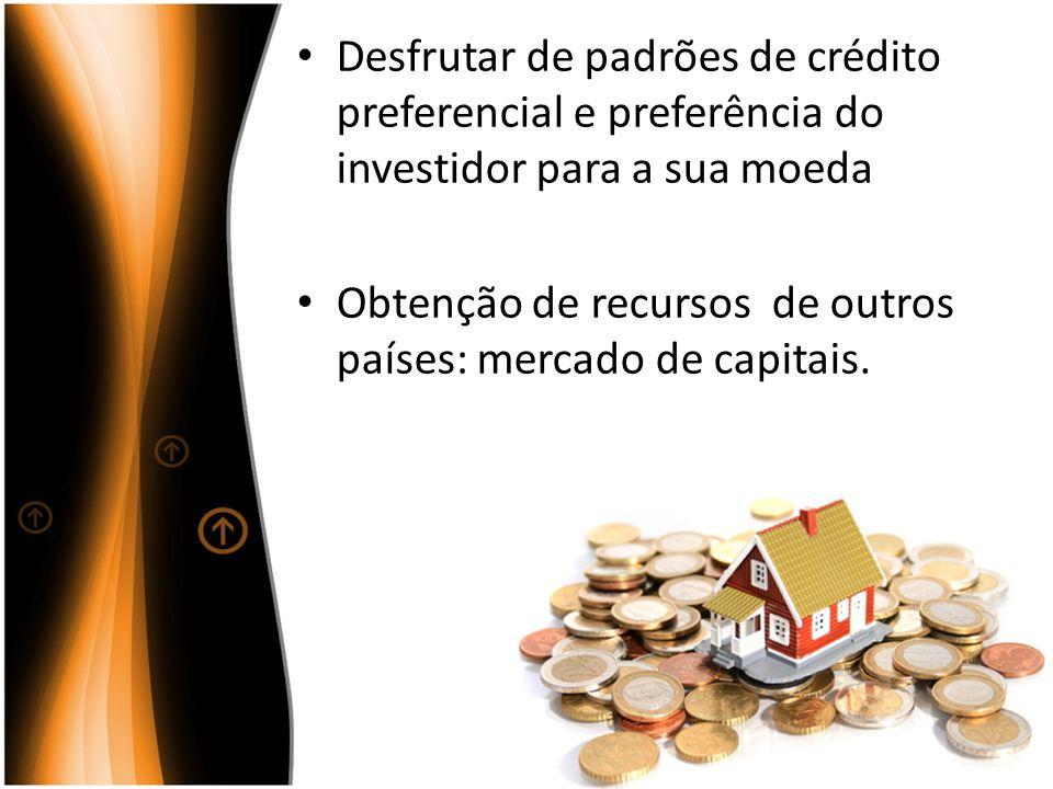 Desfrutar de padrões de crédito preferencial e preferência do investidor para a sua moeda