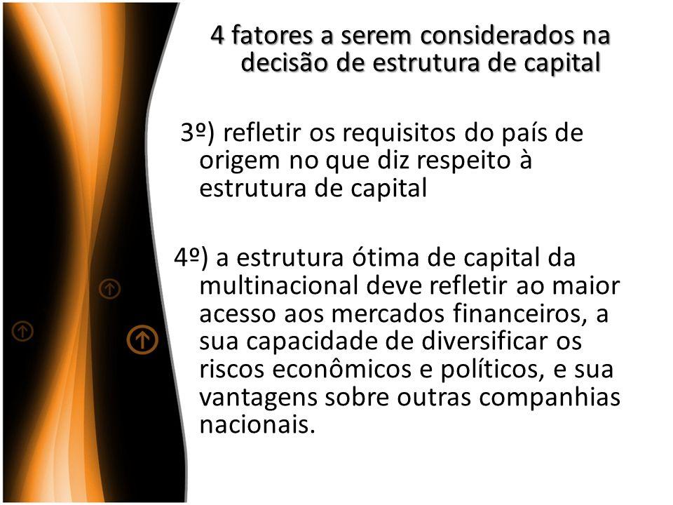4 fatores a serem considerados na decisão de estrutura de capital