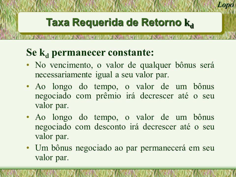Taxa Requerida de Retorno kd