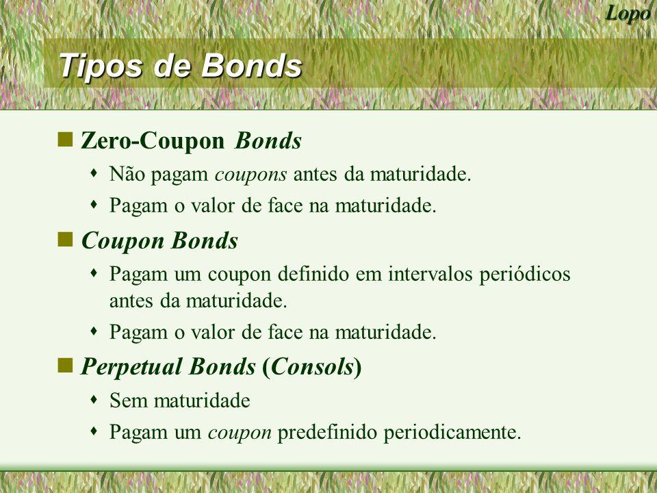 Tipos de Bonds Zero-Coupon Bonds Coupon Bonds