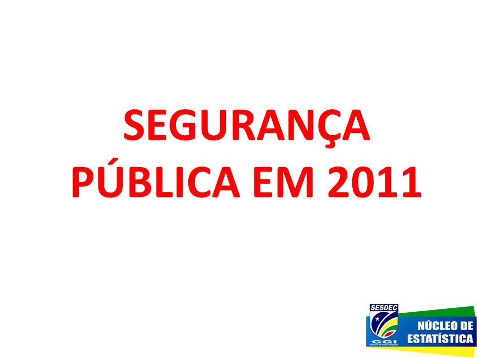 SEGURANÇA PÚBLICA EM 2011