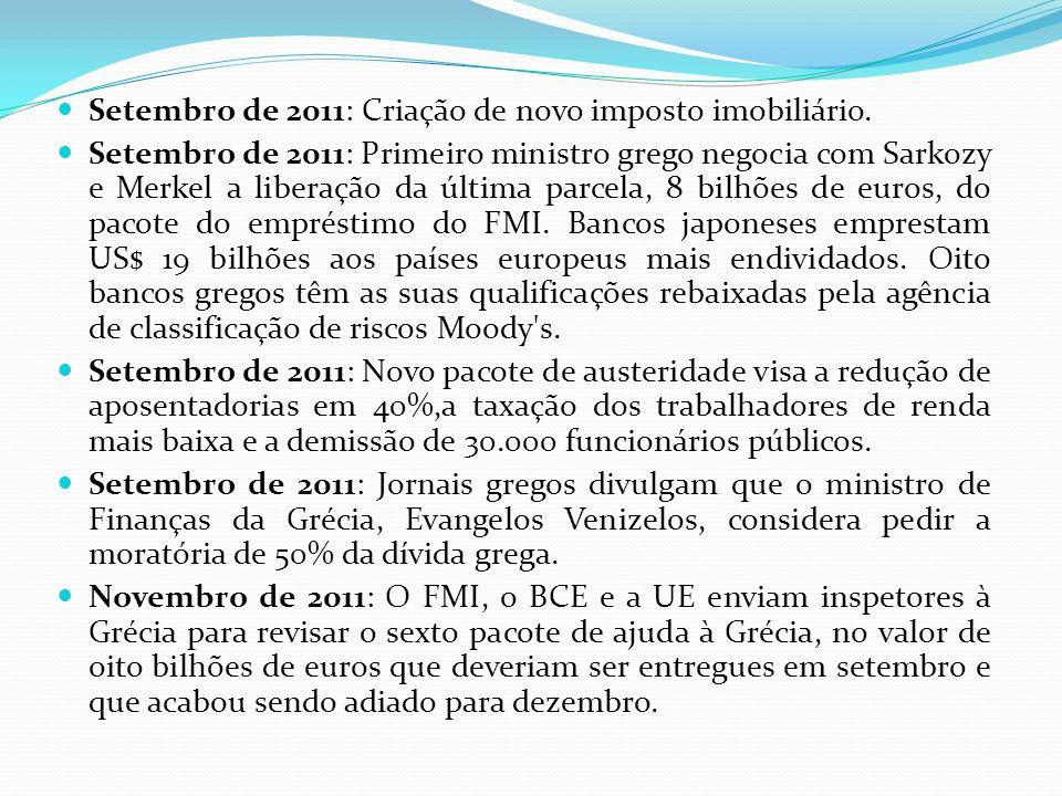 Setembro de 2011: Criação de novo imposto imobiliário.