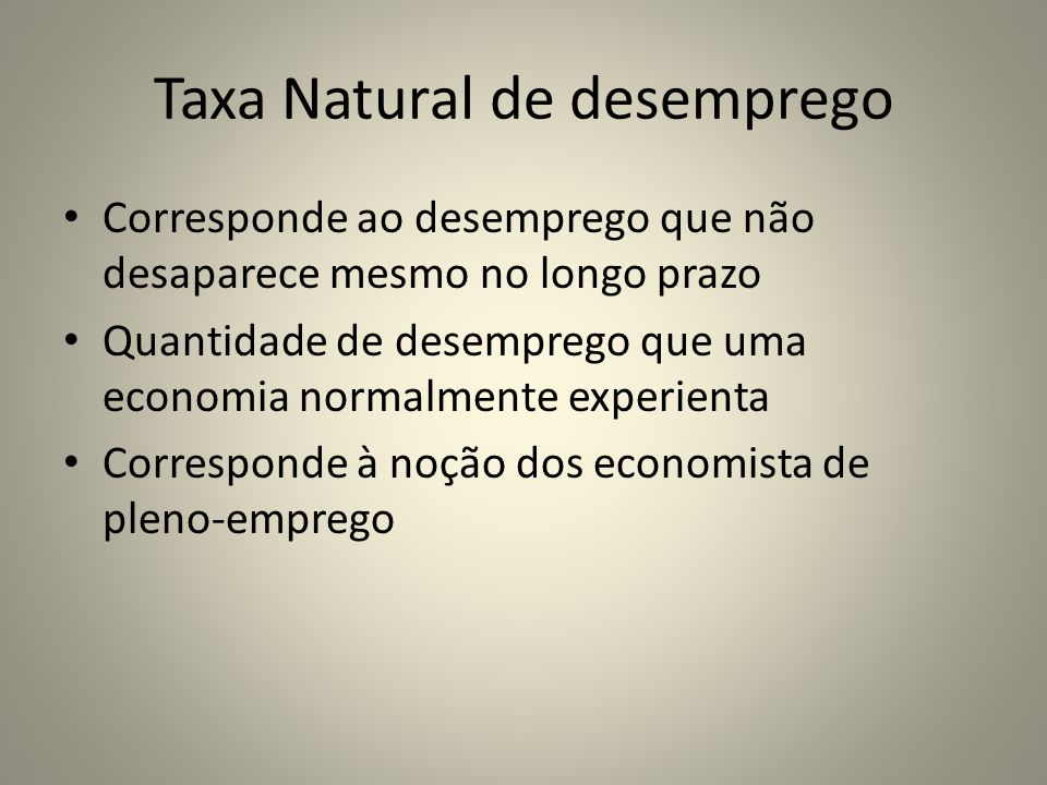 Taxa Natural de desemprego
