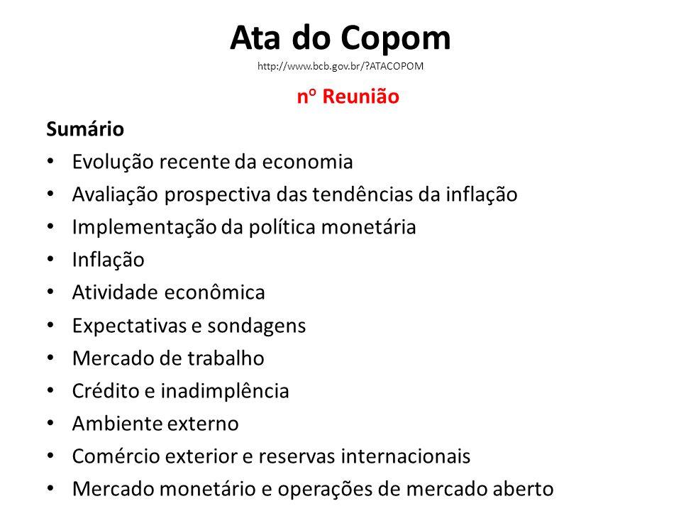 Ata do Copom http://www.bcb.gov.br/ ATACOPOM