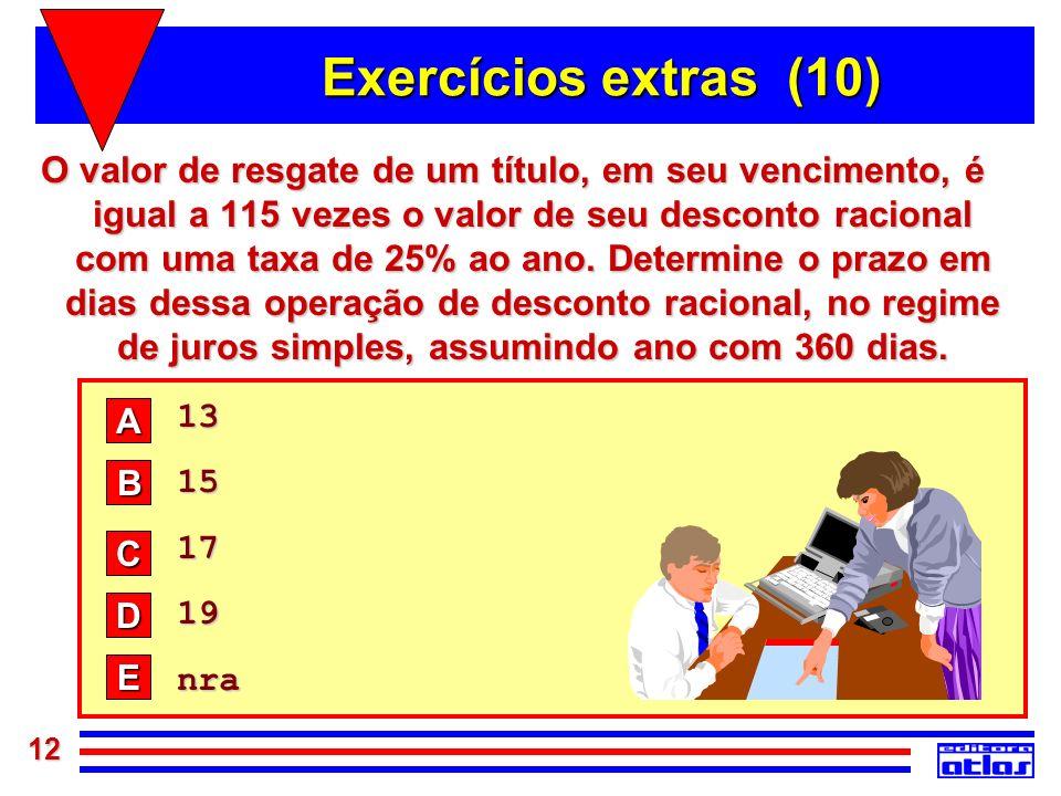 Exercícios extras (10)
