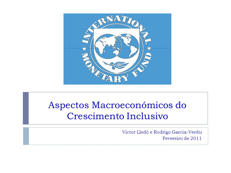 Aspectos Macroeconómicos do Crescimento Inclusivo