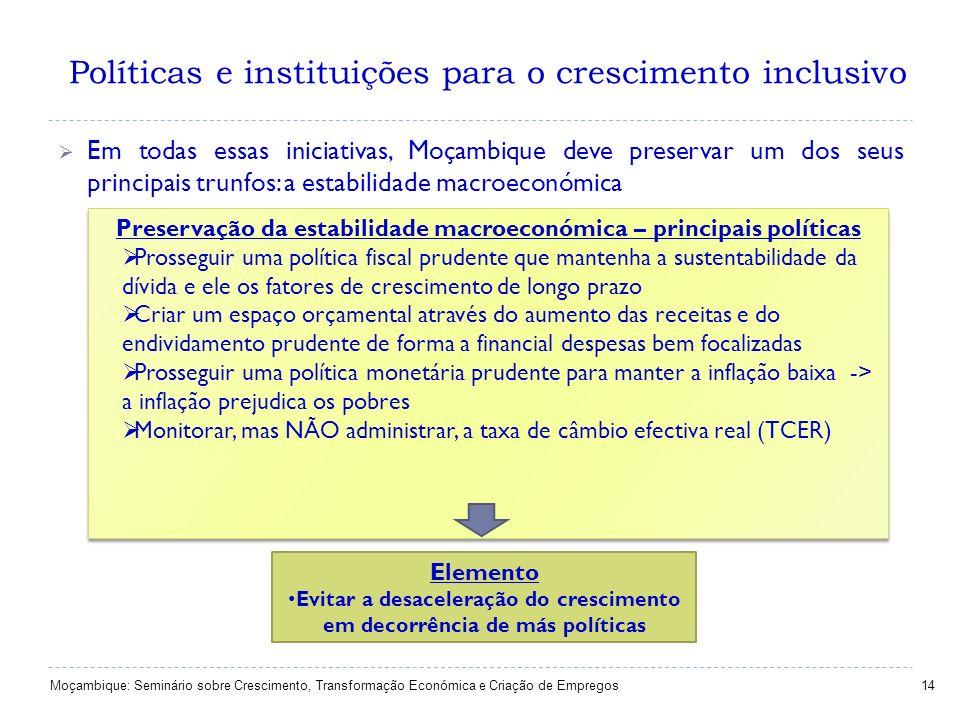 Políticas e instituições para o crescimento inclusivo