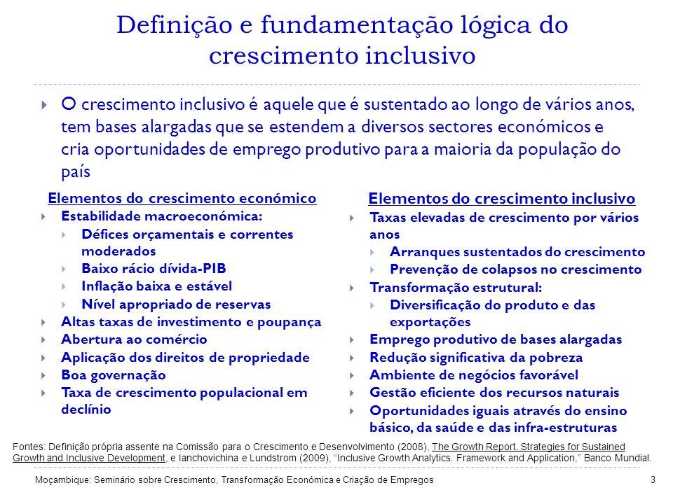 Definição e fundamentação lógica do crescimento inclusivo