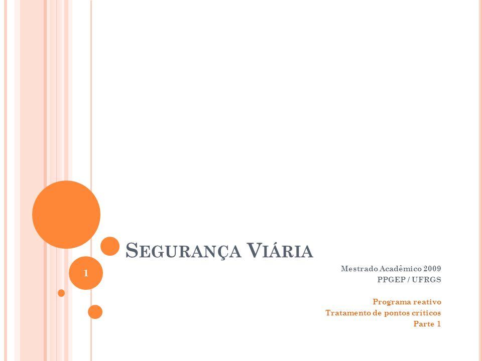Segurança Viária Mestrado Acadêmico 2009 PPGEP / UFRGS
