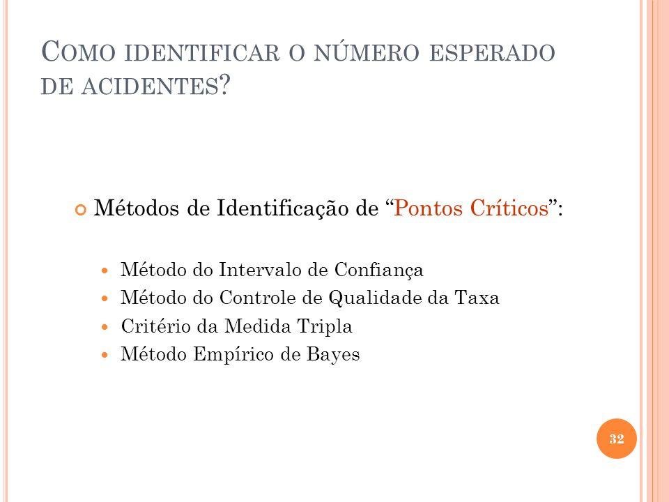 Como identificar o número esperado de acidentes