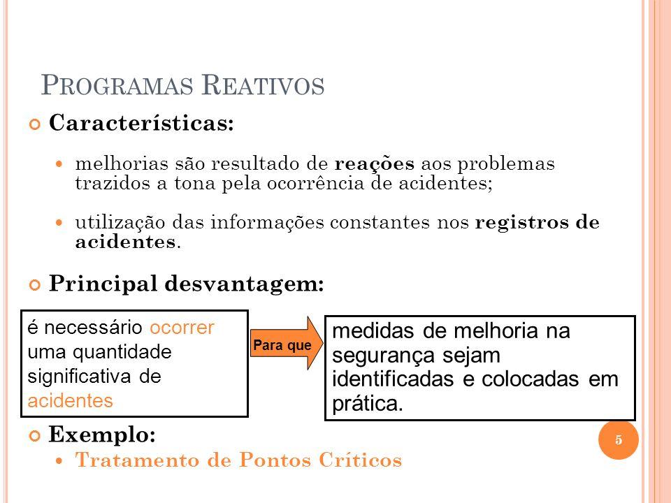 Programas Reativos Características: Principal desvantagem: Exemplo: