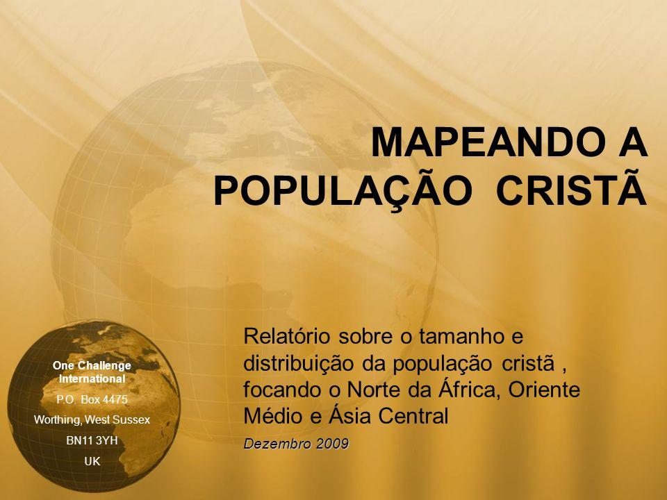 MAPEANDO A POPULAÇÃO CRISTÃ