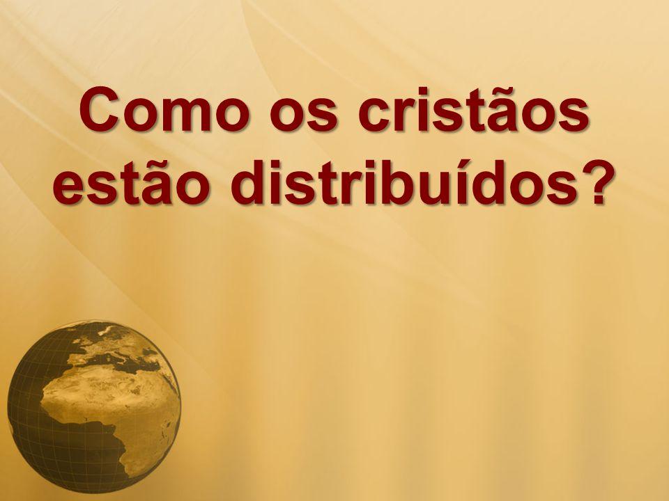 Como os cristãos estão distribuídos