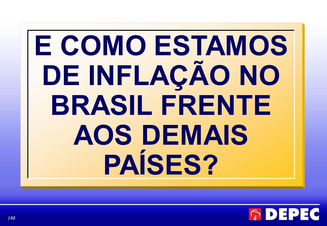 E COMO ESTAMOS DE INFLAÇÃO NO BRASIL FRENTE AOS DEMAIS PAÍSES