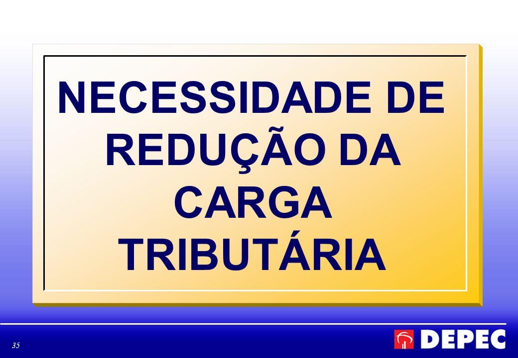 NECESSIDADE DE REDUÇÃO DA CARGA TRIBUTÁRIA