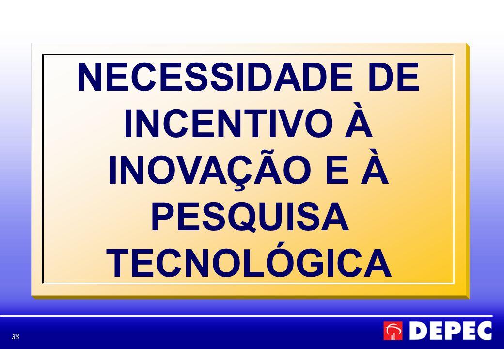 NECESSIDADE DE INCENTIVO À INOVAÇÃO E À PESQUISA TECNOLÓGICA