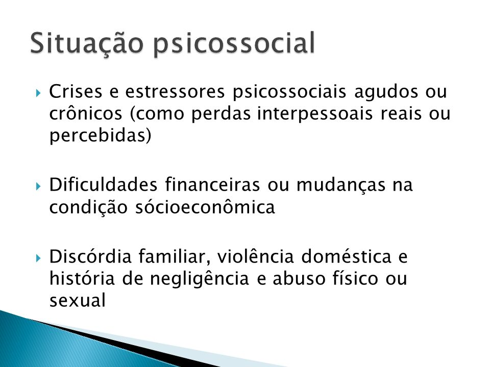 Situação psicossocial