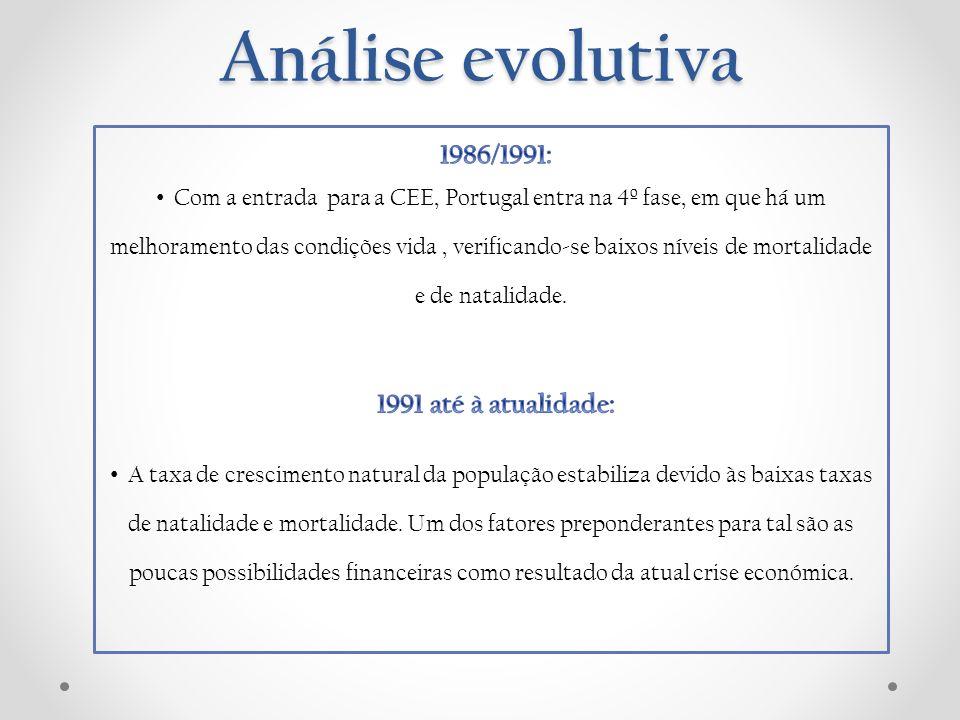 Análise evolutiva 1986/1991: 1991 até à atualidade: