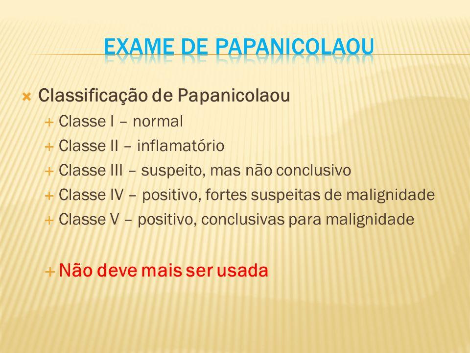 Exame de papanicolaou Classificação de Papanicolaou