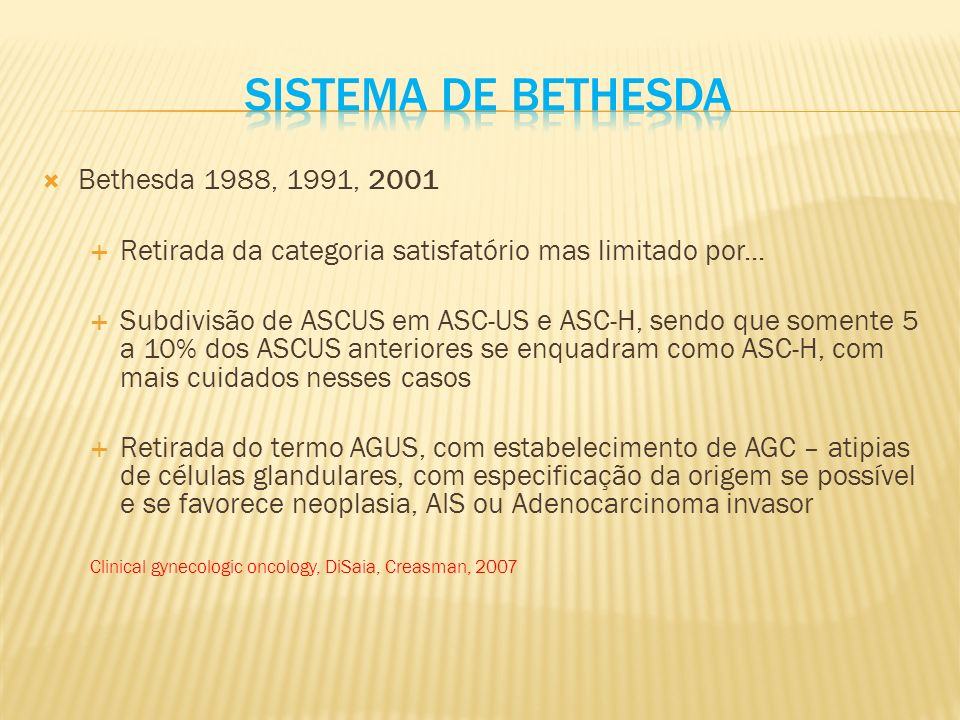 Sistema de bethesda Bethesda 1988, 1991, 2001