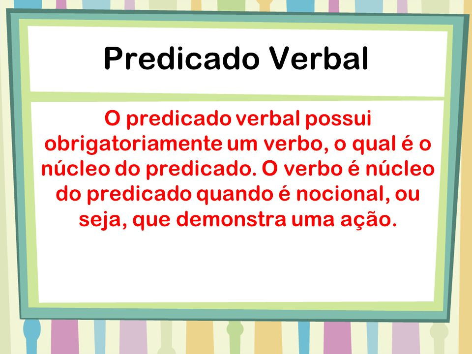 Predicado Verbal