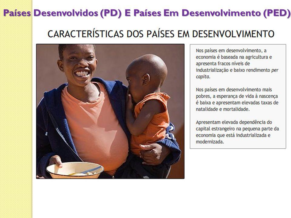 Países Desenvolvidos (PD) E Países Em Desenvolvimento (PED)