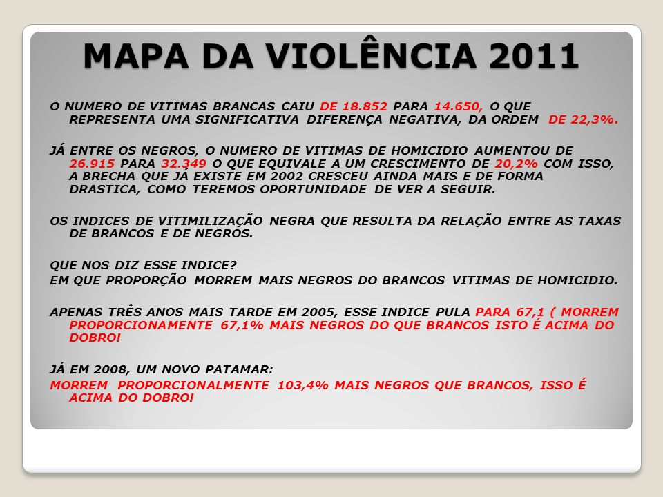 MAPA DA VIOLÊNCIA 2011