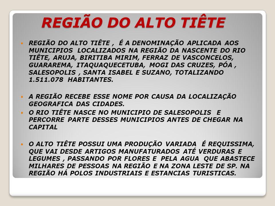 REGIÃO DO ALTO TIÊTE