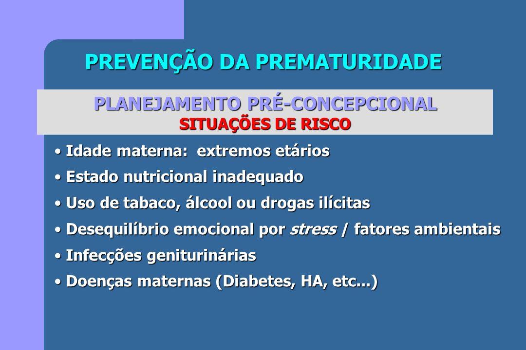 PREVENÇÃO DA PREMATURIDADE PLANEJAMENTO PRÉ-CONCEPCIONAL