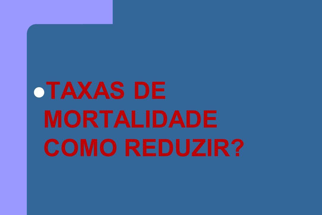 TAXAS DE MORTALIDADE COMO REDUZIR