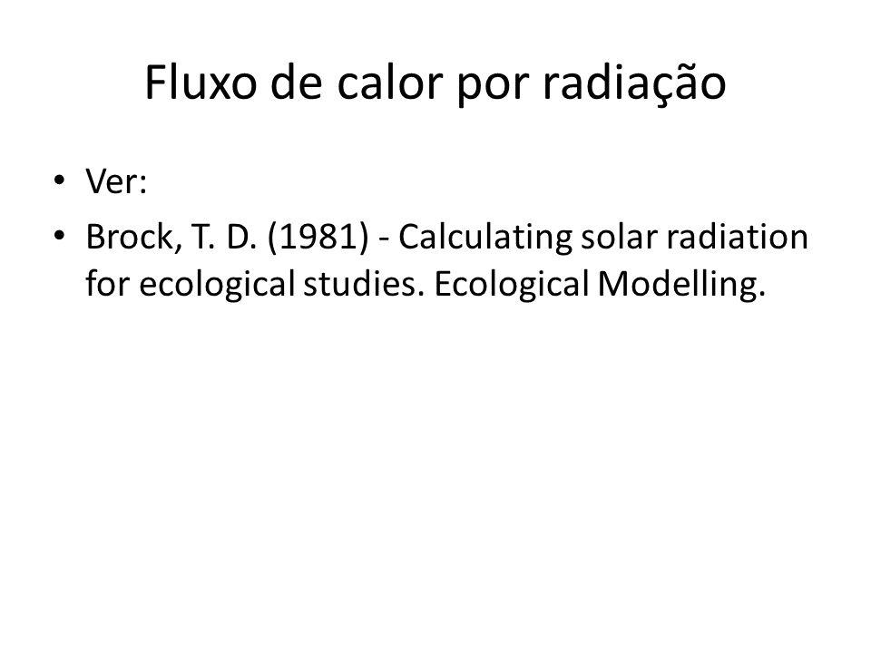 Fluxo de calor por radiação